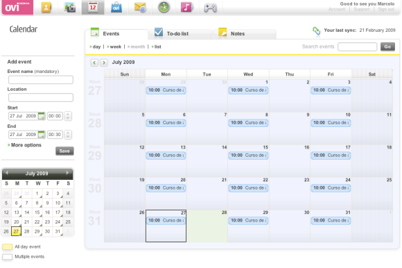 Ovi Calendar